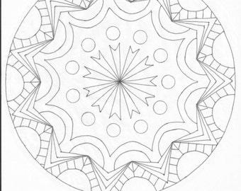 Mandala Type Color Page