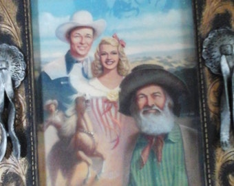 Roy Rogers and friends 1950s print