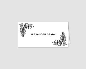 Place Card tent-fold with decorative border