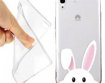 Rabbit case cover white for huawei y6 transparent