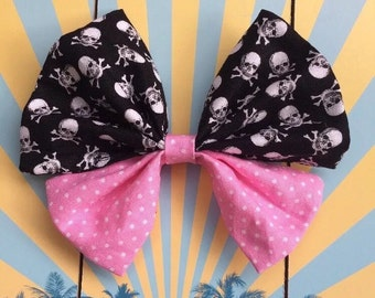 Rockabilly Hairclip loop skull Halloween skull