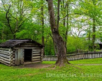 Rustic Cabin Prints, Cabin Print, Great Smoky Mountain Print, Barn Photography Print,Farm Landscape Photography, Mountain Photography Photo