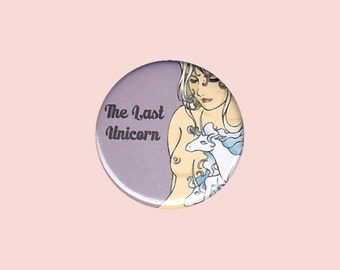 The Last Unicorn Badge - the last unicorn button, the last unicorn pin, Lady Amalthea button