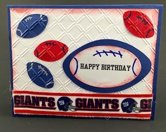A New York Giants card,New York Giants birthday card,New York Giants gift,New York Giants collectible,New York Giants accessory,Giants