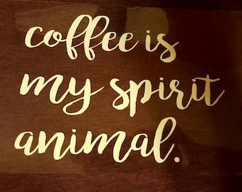 Coffee is my spirit animal t-shirt.