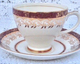 Empire Porcelain Co Staffordshire Teacup and Saucer