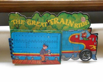 Vintage Child's Board Book The Great Train Ride