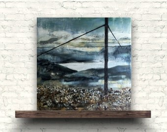 GUATAVITA - Original Encaustic Painting Color, 8x8in