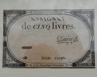 1794 French Revolution ASSIGNAT - paper currency