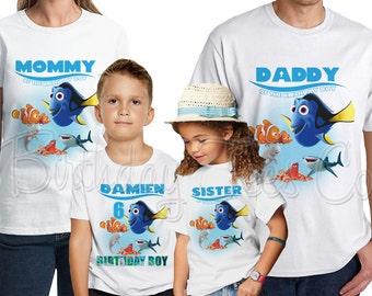 Finding Dory Shirt Add Name & Age Finding Nemo Custom Family Tshirts