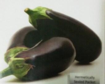 Eggplant Black Beauty Solanum Melongena Berenjena 100 Seeds