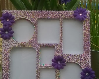 Purple Flower Photograph Frame