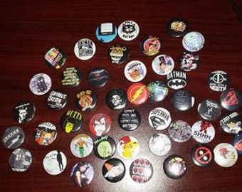 """10- 1"""" pinback button badge pin with your own personalized image"""