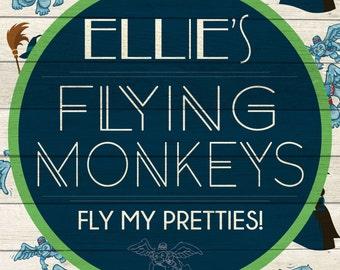 Custom Flying Monkeys Sign Digital Download