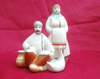 Soviet porcelain figurines in the bazaar Polonnoe 1954-1973 year 100% Original Vintage