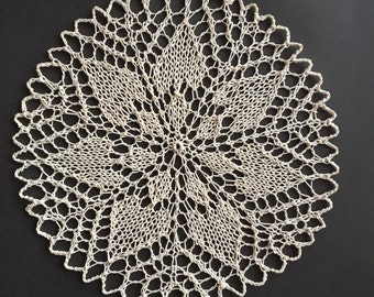 Beige lace doily -handmade