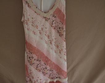 Vintage Sheer Sleeveless Dress