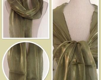 Green Sheen Wrap Pashmina Weddings Races Proms Gift Idea