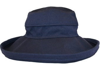 The Noosa Hat | Navy | Cotton | Wide Brim