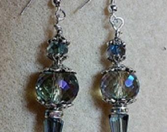 Iridescent Crystal Dangle Earring
