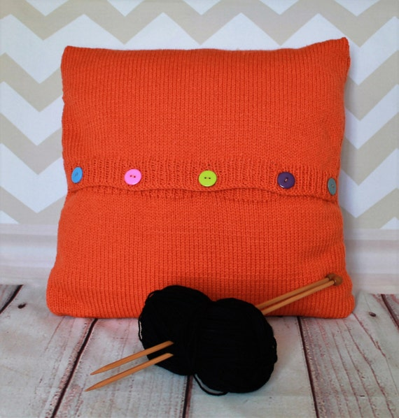 Knitting Pattern PDF Download - Black & White Cat Pet Portrait Pillow Cus...