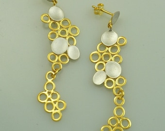 Gold plated silver earings