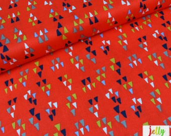 30% OFF - ORGANIC Cotton - Arrowhead in Tomato from Wildland Collection by Birch Fabrics - UK Seller