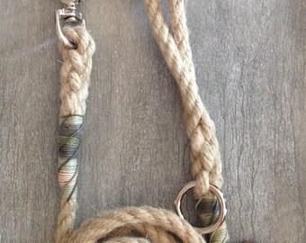 Standard length Natural Hemp Rope dog leads 12mm