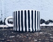 Porcelain Striped Espresso Mug