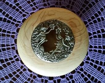 Claret ash potpourri lidded bowl