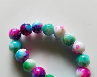 Little girls beaded bracelet