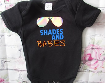 SHADES and BABES baby boy bodysuit