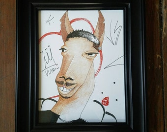 "8.5""x11"" Handmade ORIGINAL fanart Illustration of KENDRICK LLAMA Print done on laminated cardstock"