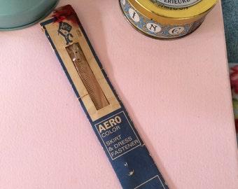 Beige 8 Inch Zip - Retro 20 cm Tan Zipper - Nude Zip - Vintage Sewing Notions and Fasteners