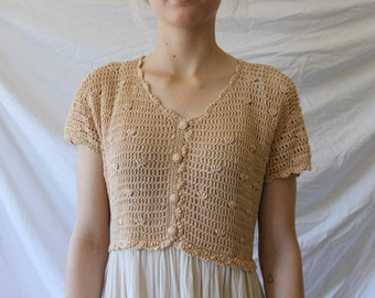 Crochet & Cotton Midi Dress