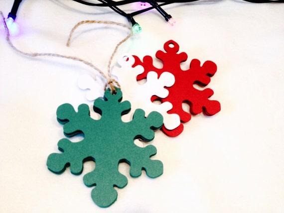 Christmas Name Tags: SNOWFLAKE CHRISTMAS TAGS Gift Tags Name Tags Christmas
