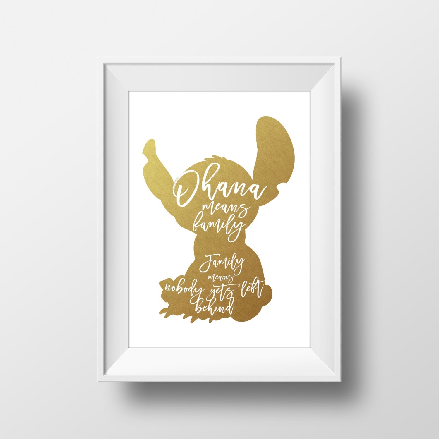 Wall Art Quotes Disney : Wall art disney print stitch goldlilo and stitchdisney