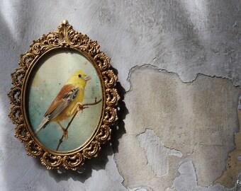 50 years vintage gold leaf frame