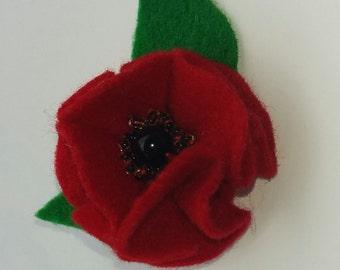 handmade felt brooch. gift idea
