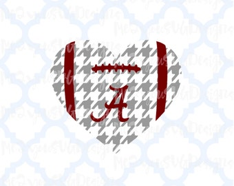Alabama Football Heart SVG,EPS,PNG,Studio