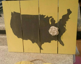 United States Map Pallet