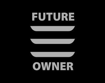 future tesla model 3 owner vinyl car decal window sticker - Frise Vinyle