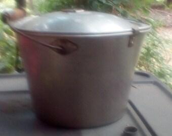 Vintage Wearever Aluminum Milk Bucket