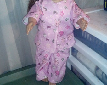 """pajama for your  18"""" doll"""