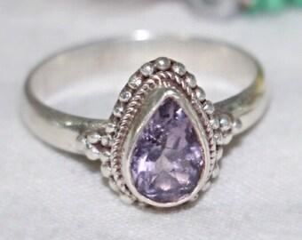 Amethyst Stone Sterling Silver Ring