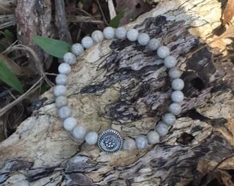 Petoskey Fossil Coral Bracelet, 6mm