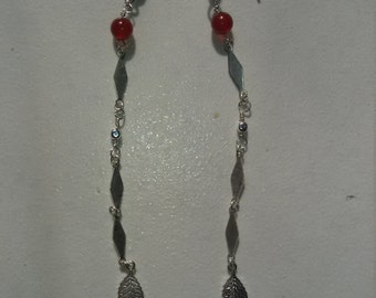 925 Silver earrings and carnelian