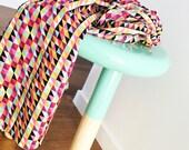 Baby Blanket (Geo Pop) - Bunny rug, Stroller blanket, baby bedding, Car blanket