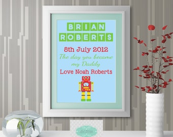 Father's Day A4 Print - Robot
