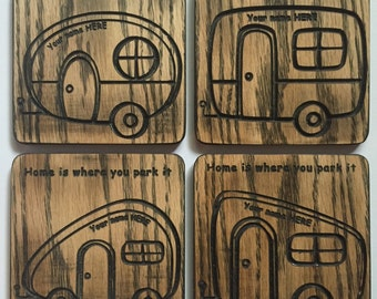Set of 4 Camper Coaster Set